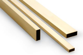 Brass Rectangular Tube - Fine Series